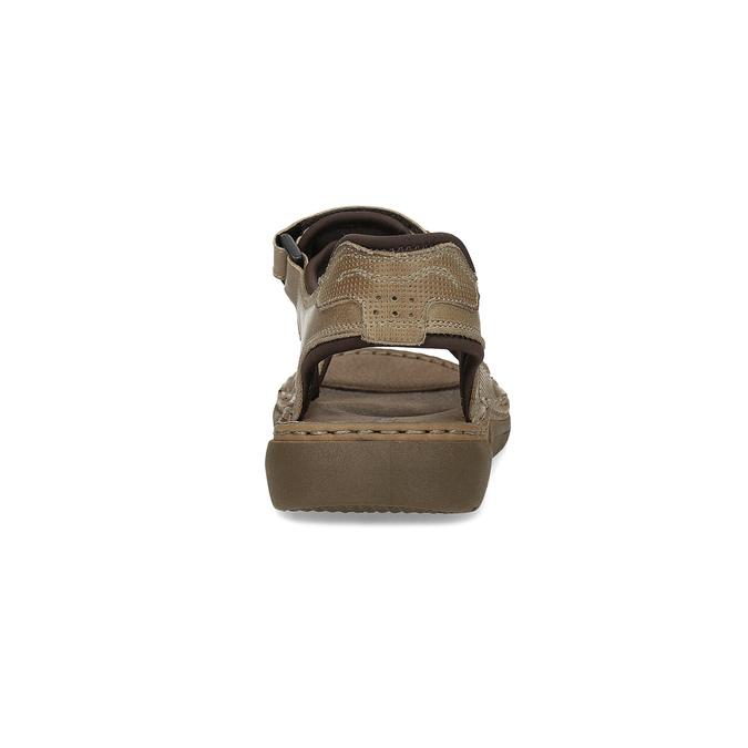Kožené pánské sandály černo-modré weinbrenner, hnědá, 866-4643 - 15