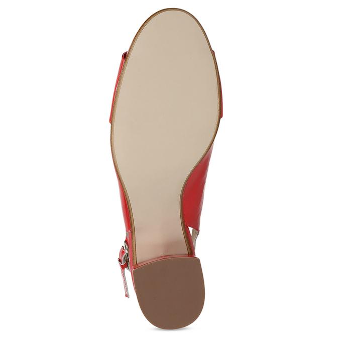 Červené lakované lodičky bata, červená, 628-5632 - 18
