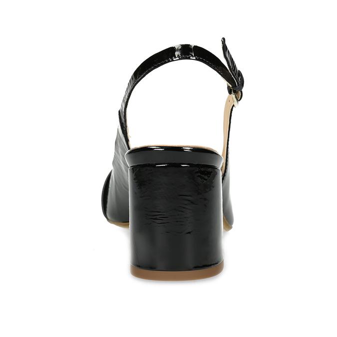 Černé lakované lodičky bata, černá, 628-6632 - 15