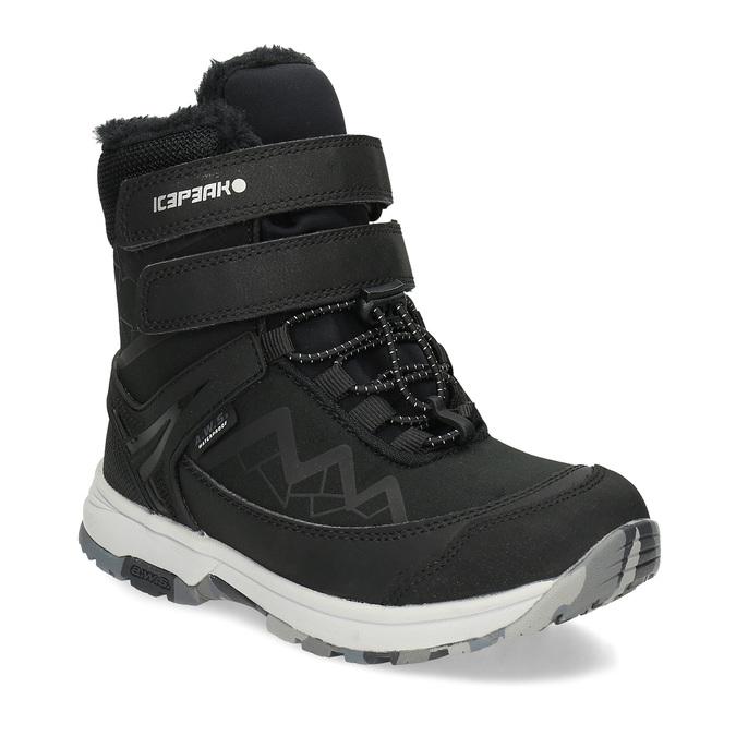 Dětská černá zimní obuv se zateplením icepeak, černá, 399-6006 - 13