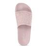 Růžové dámské nazouváky s perforací pata-pata, růžová, 579-5689 - 17