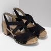 Černé dámské sandály z broušené kůže gabor, černá, 663-6603 - 26