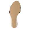 Kožené černé sandály na klínku bata, černá, 654-6600 - 18
