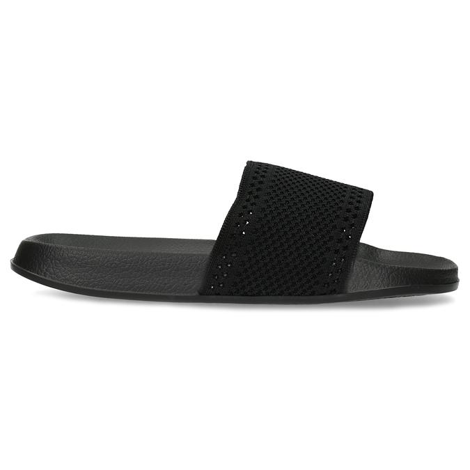 Černé dámské textilní nazouváky pata-pata, černá, 579-6689 - 19