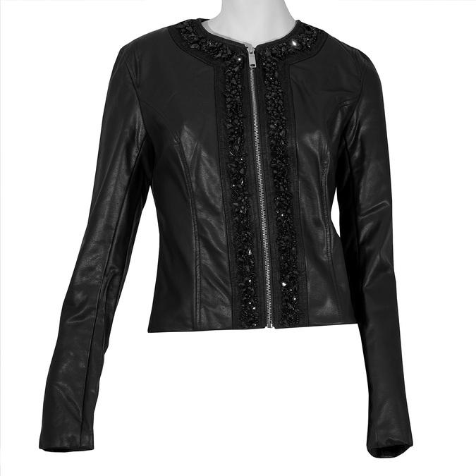 Dámská černá bunda s ozdobnými kamínky bata, černá, 971-6241 - 13