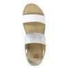Kožené sandály na klínku bílé bata, bílá, 664-1600 - 17