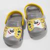 Šedé dětské sandály se žlutým detailem coqui, šedá, 272-2610 - 16