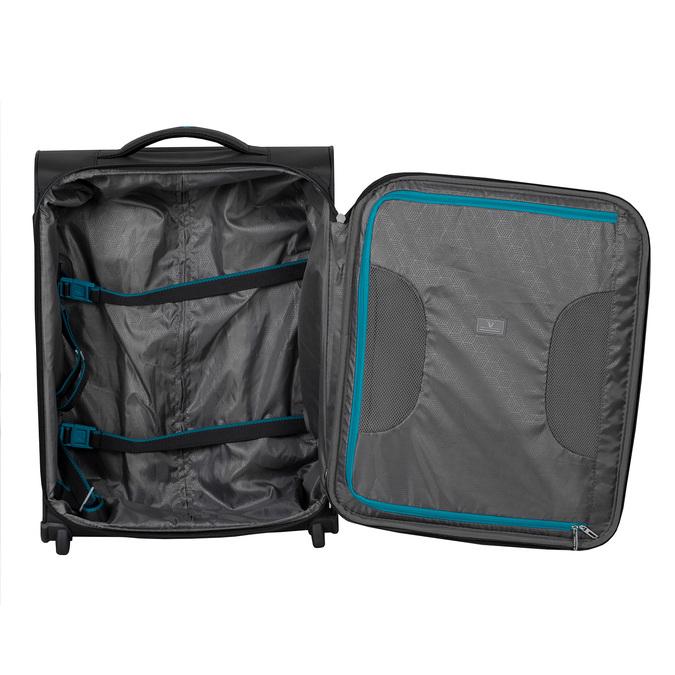 Černý textilní cestovní kufr roncato, černá, 969-6726 - 17
