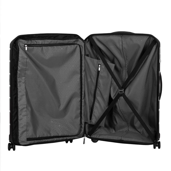 Černý cestovní kufr na kolečkách samsonite, černá, 960-6623 - 17