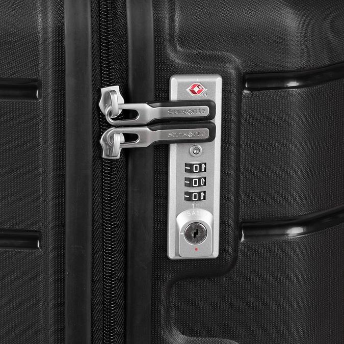 Černý cestovní kufr na kolečkách samsonite, černá, 960-6623 - 16