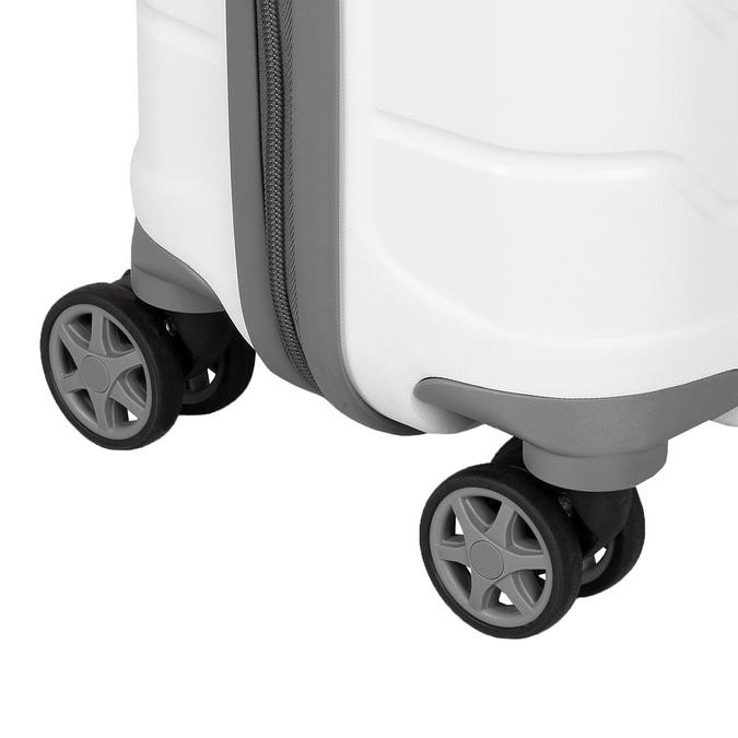 Bílý cestovní kufr na kolečkách samsonite, bílá, 960-1620 - 15