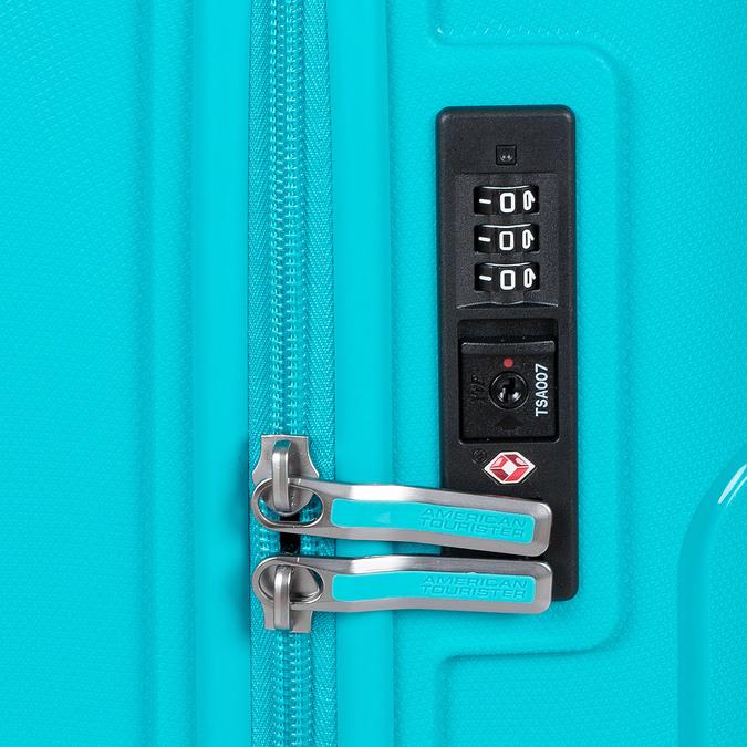 Modrý cestovní kufr na kolečkách american-tourister, modrá, 960-9624 - 16