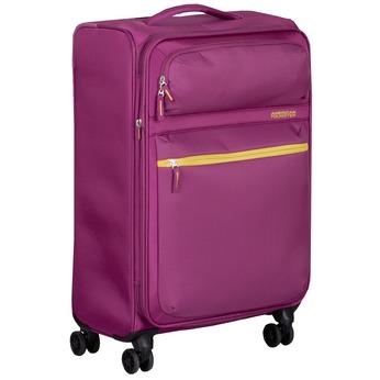 Fialový cestovní kufr na kolečkách american-tourister, růžová, 969-5741 - 13
