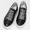 Černé kožené pánské tenisky bata, černá, 844-6649 - 16