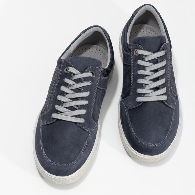 Kožené tmavě modré tenisky bata, modrá, 846-9600 - 16