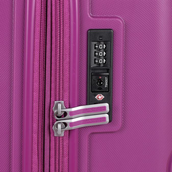 Střední růžový kufr na kolečkách american-tourister, fialová, 960-5625 - 16
