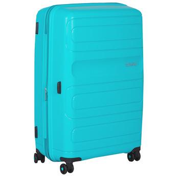Střední tyrkysový kufr na kolečkách american-tourister, modrá, 960-9626 - 13