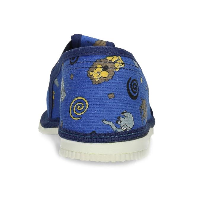 Dětské modré přezůvky se vzorem bata, modrá, 179-9631 - 15
