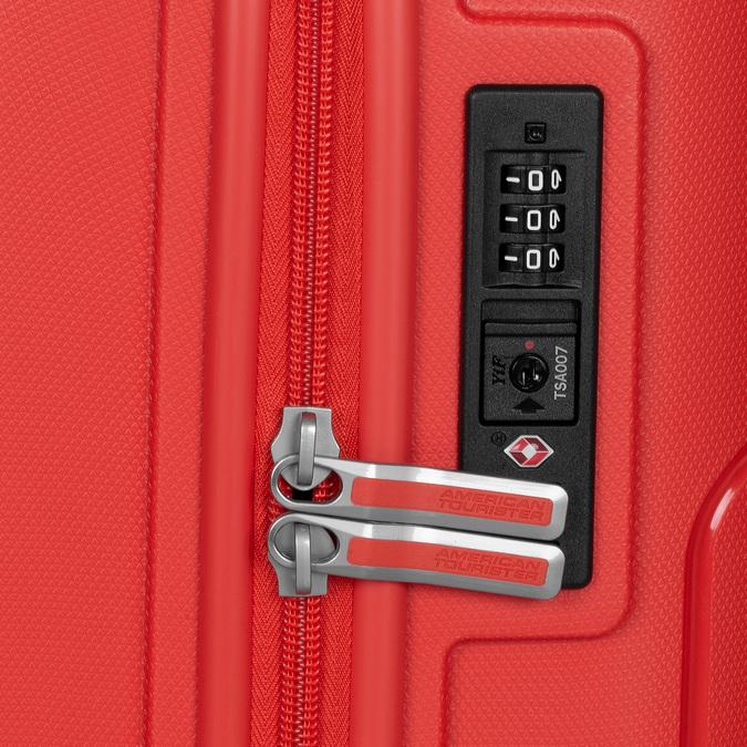 Červený cestovní kufr na kolečkách american-tourister, červená, 960-8624 - 16