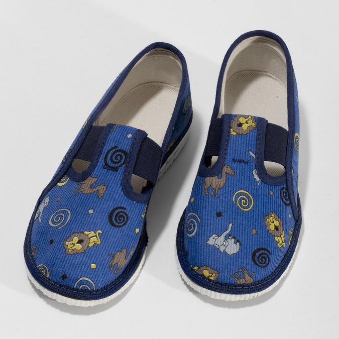 Dětské modré přezůvky se vzorem bata, modrá, 179-9631 - 16