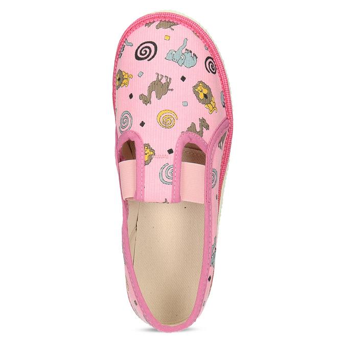 Dětské růžové přezůvky se vzorem bata, růžová, 379-5616 - 17