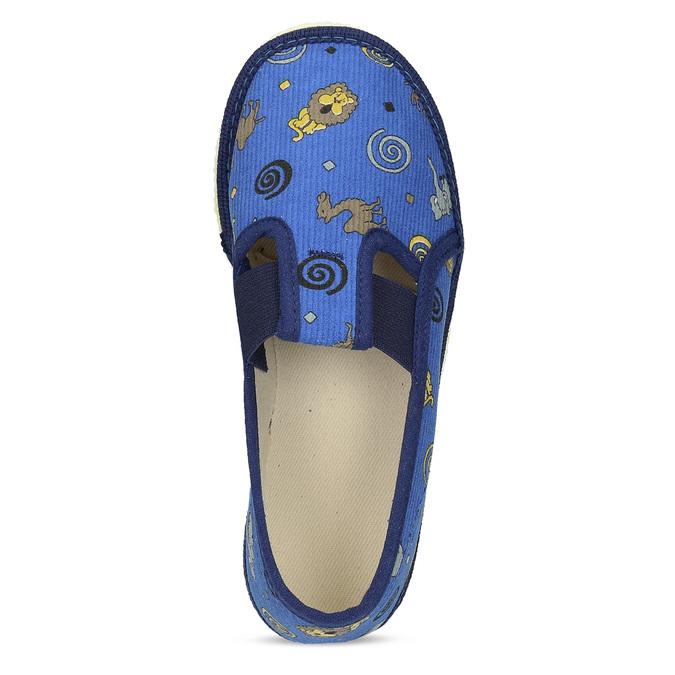 Dětské modré přezůvky se vzorem bata, modrá, 179-9631 - 17