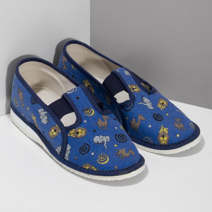 Dětské modré přezůvky se vzorem bata, modrá, 379-9616 - 26