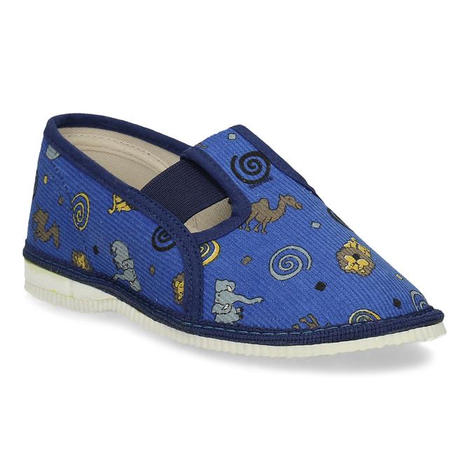 Dětské modré přezůvky se vzorem bata, modrá, 179-9631 - 13