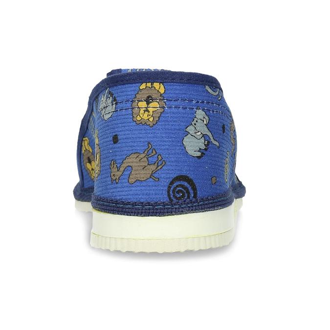 Dětské modré přezůvky se vzorem bata, modrá, 379-9616 - 15