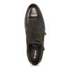Pánské kožené Monk Shoes polobotky conhpol, hnědá, 826-4626 - 17