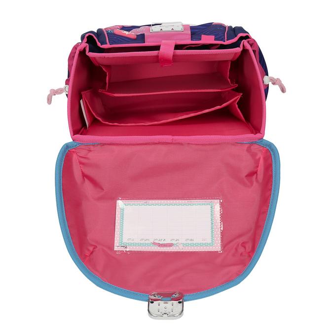 Modrá školní aktovka s růžovými detaily belmil, růžová, 969-5748 - 15