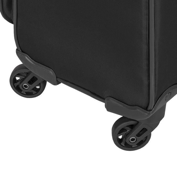 Textilní černý kufr na kolečkách roncato, černá, 969-6738 - 16