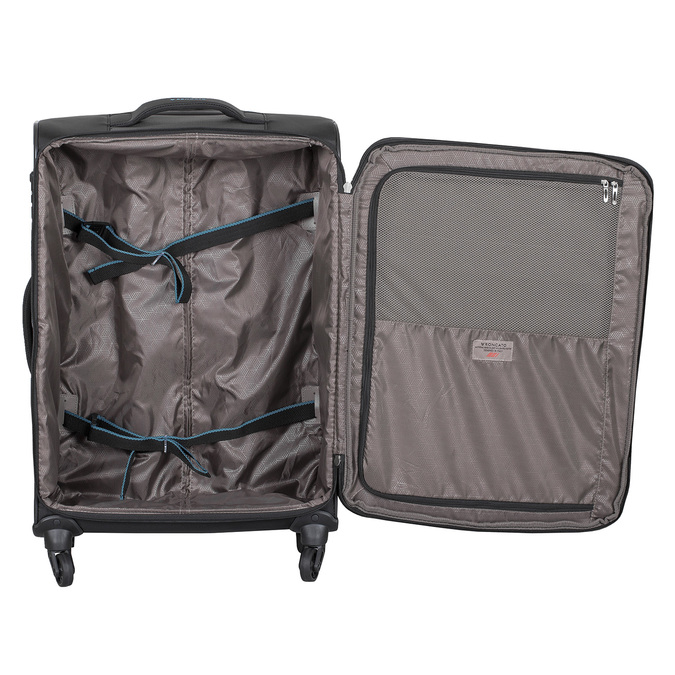 Textilní černý kufr na kolečkách roncato, černá, 969-6738 - 17