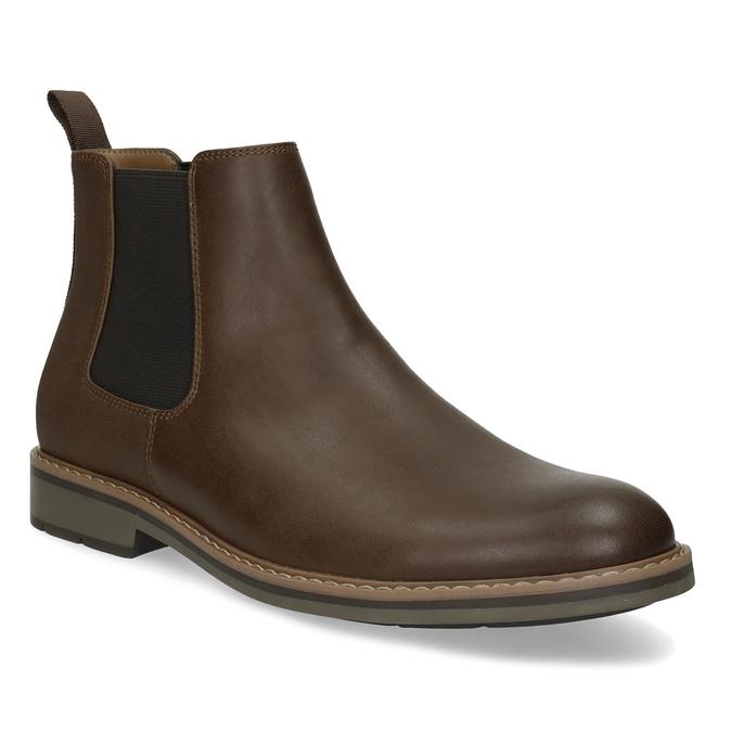 Kotníčková pánská Chelsea obuv bata-red-label, hnědá, 821-4669 - 13