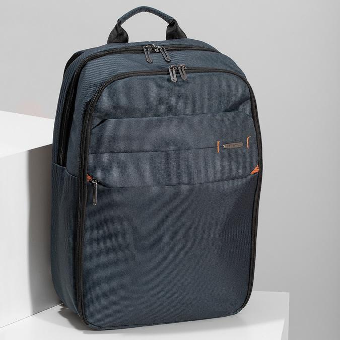 Tmavě modrý cestovní batoh samsonite, modrá, 960-9066 - 17