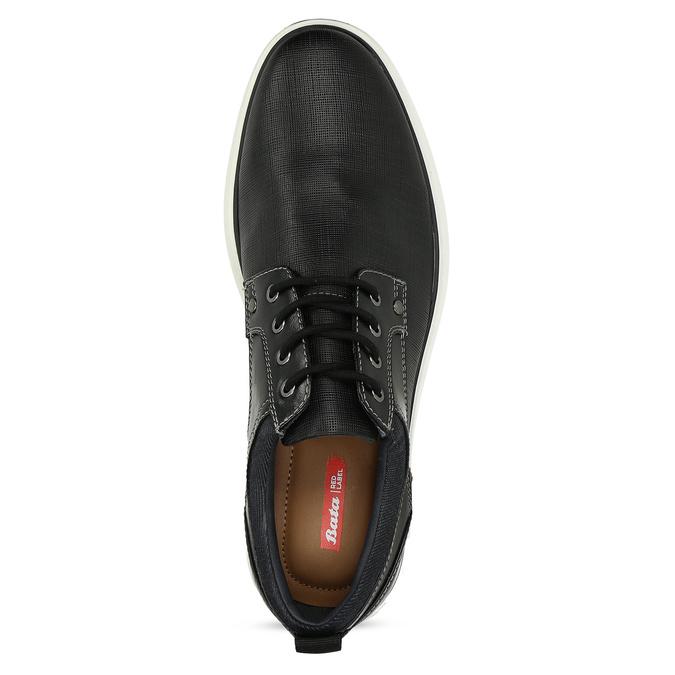 Pánské černé tenisky s prošitím bata-red-label, černá, 821-6672 - 17