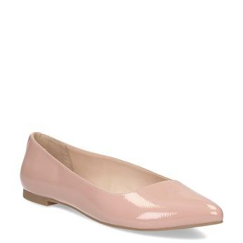 Růžové dámské baleríny do špičky bata-red-label, růžová, 521-5604 - 13