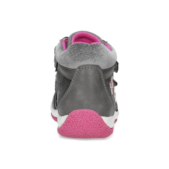 Šedé dětské tenisky s růžovými detaily mini-b, šedá, 221-2618 - 15