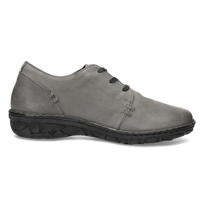 Šedé dámské kožené ležérní polobotky bata, šedá, 594-2601 - 19