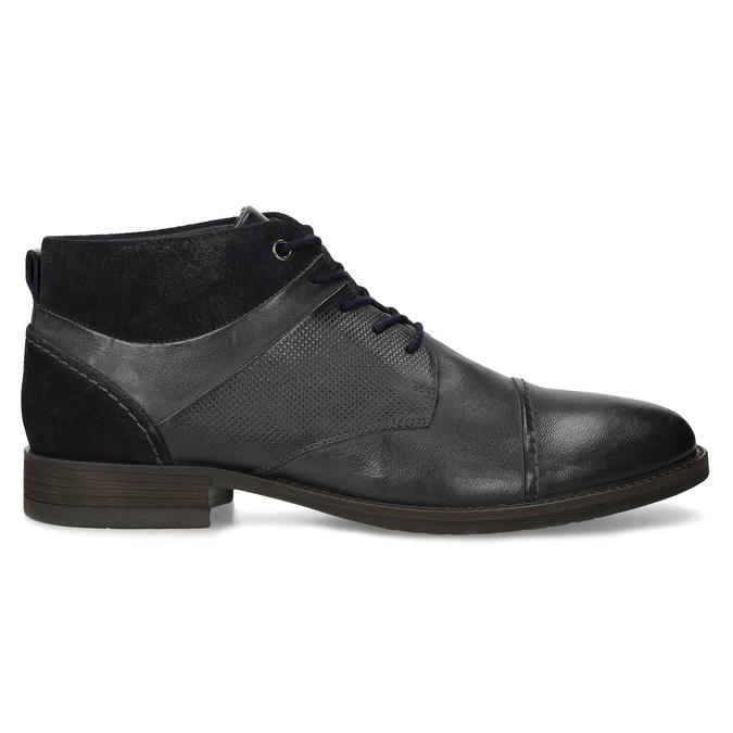 Modrá pánská kožená kotníčková obuv bata, modrá, 826-9937 - 19