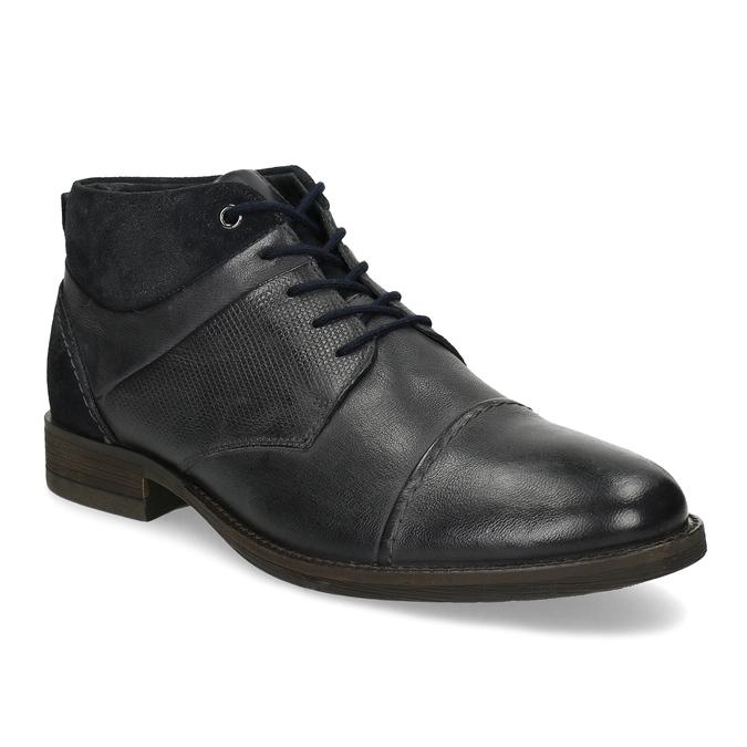 Modrá pánská kožená kotníčková obuv bata, modrá, 826-9937 - 13