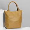 Žlutá kožená kabelka s prošitím bata, žlutá, 964-8221 - 17