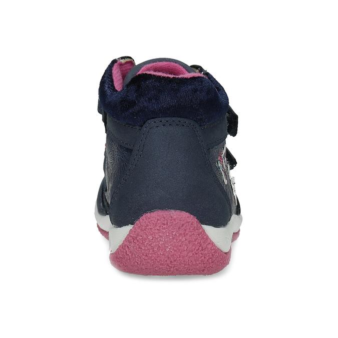 Modré dětské tenisky s růžovými detaily mini-b, modrá, 221-9618 - 15