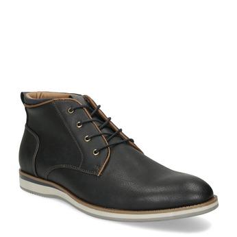 Černá pánská kotníčková obuv s prošitím bata-red-label, černá, 821-6665 - 13