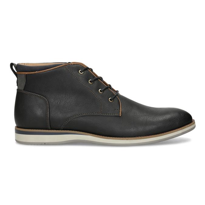 Černá pánská kotníčková obuv s prošitím bata-red-label, černá, 821-6665 - 19