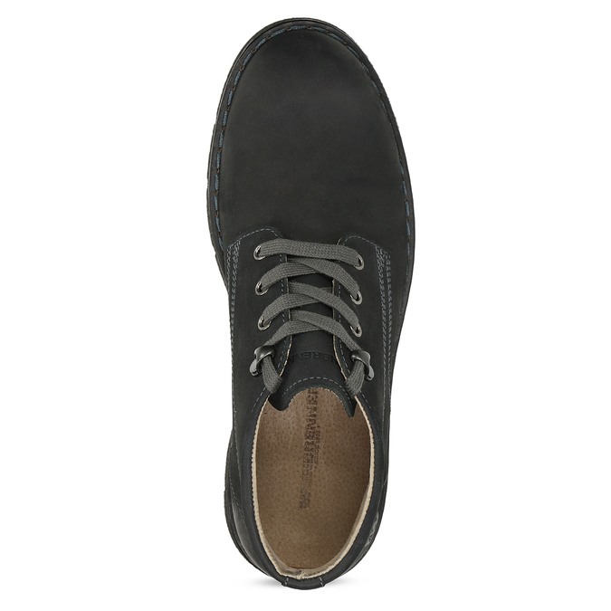 Pánská černá kožená kotníčková obuv weinbrenner, černá, 846-6658 - 17