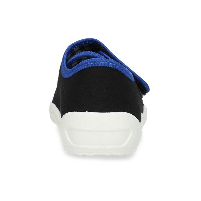 Černé dětské přezůvky s modrými detaily mini-b, černá, 379-6605 - 15