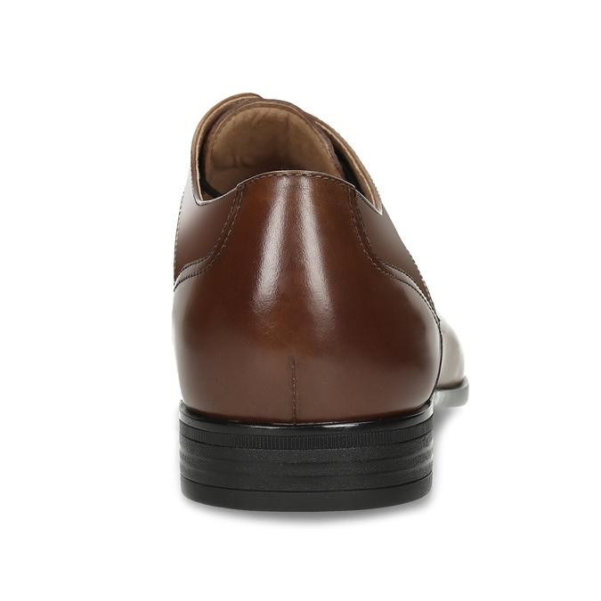 Pánské hnědé kožené Derby polobotky bata, hnědá, 826-3902 - 15