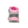 Šedá dětská kotníčková obuv s růžovými detaily bubblegummers, šedá, 121-2720 - 15