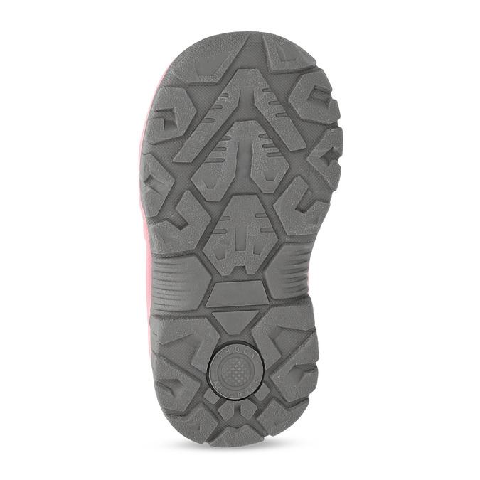 Šedá dětská kotníčková obuv s růžovými detaily bubblegummers, šedá, 121-2720 - 18